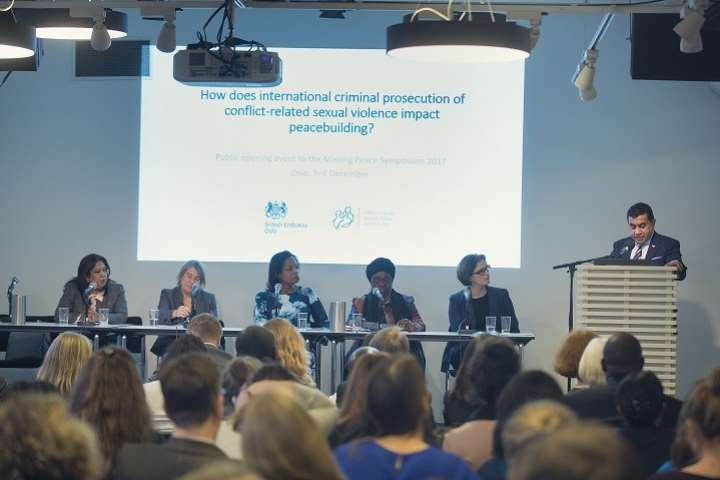 How does international criminal prosecution of conflict-related sexual violence impact peacebuilding?